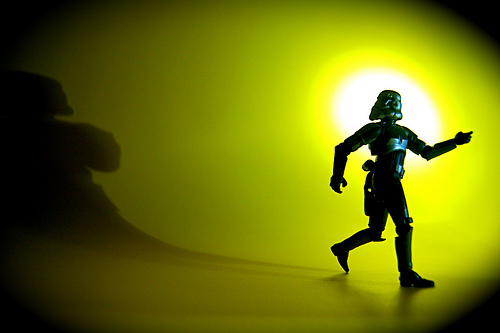 photo credit: Scared Of His Own Shadow Trooper via photopin (license)