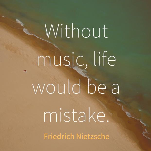 Nietzsche quote music