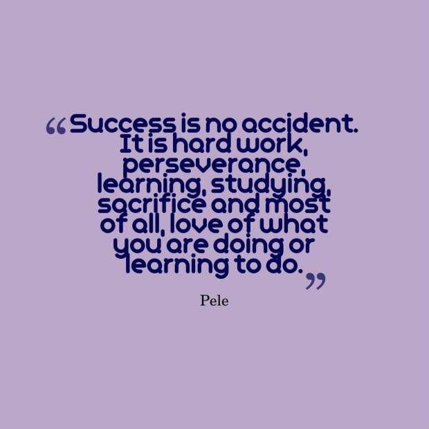 quote perseverance pele