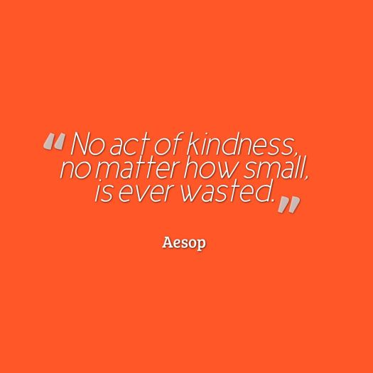 aesop quote kindness