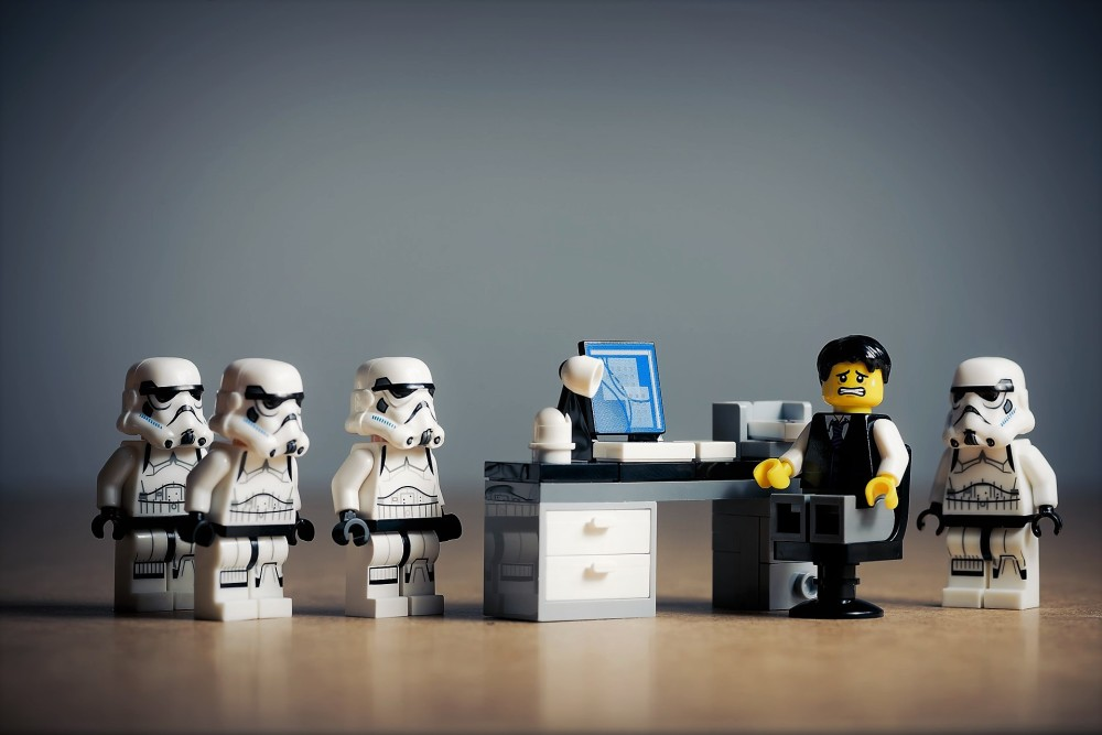 stormtroopers office desk accused