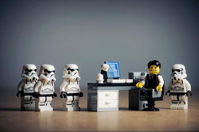 stormtroopers office desk accused