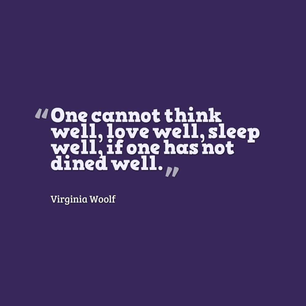 Woolf quote food