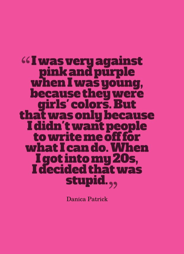 pink quote