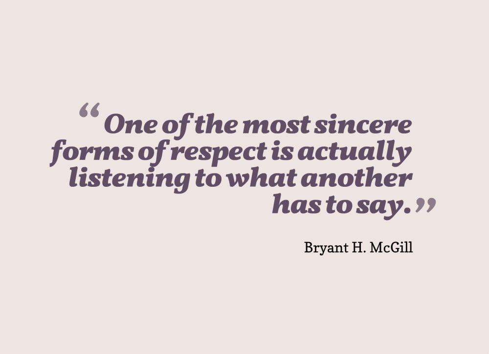 listening quote