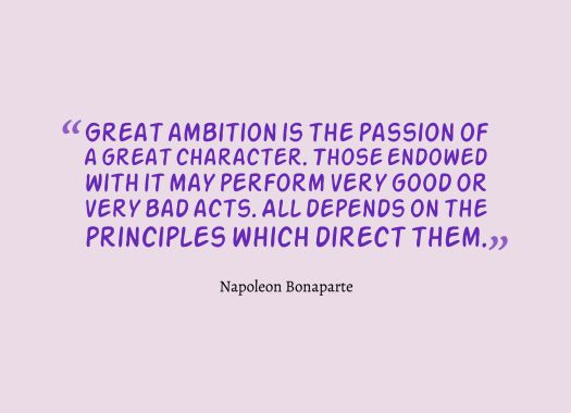ambition quote