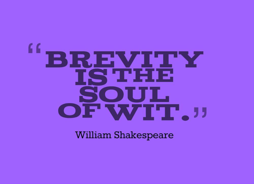 brevity quote