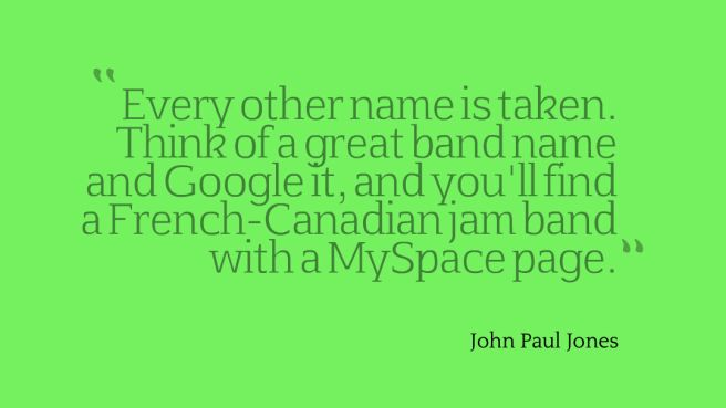 band quote