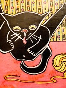 cat lick