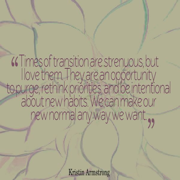 transition quote