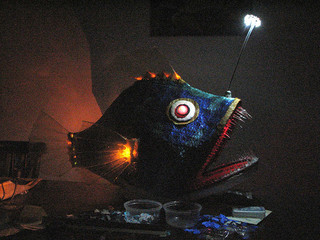 photo credit: Angler Fish Mask: more light (now powered by 6V) via photopin (license)