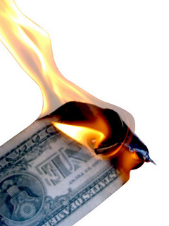 photo credit: Burning Money Isolated on White via photopin (license)