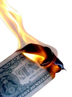 photo credit: Burning Money Isolated on White via photopin (license)