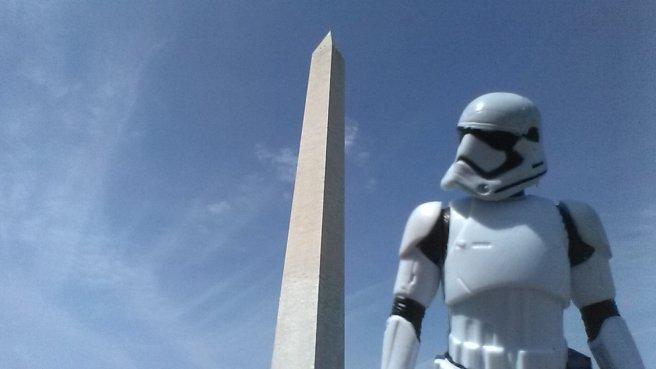 Stormtrooper kicking it at the Mall. - - EJP