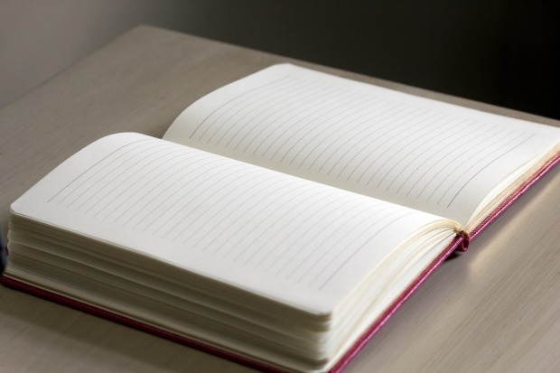 journal writing blank page