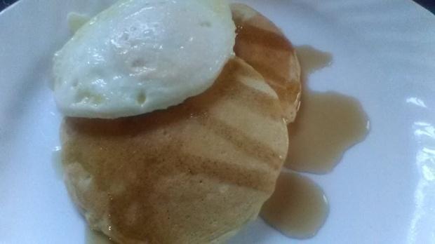 pancakes eggs camdyn breakfast