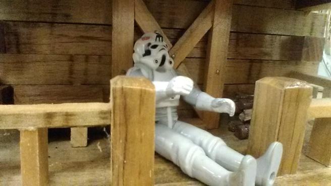stormtrooper tie fighter pilot log cabin