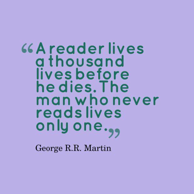 martin reading quote