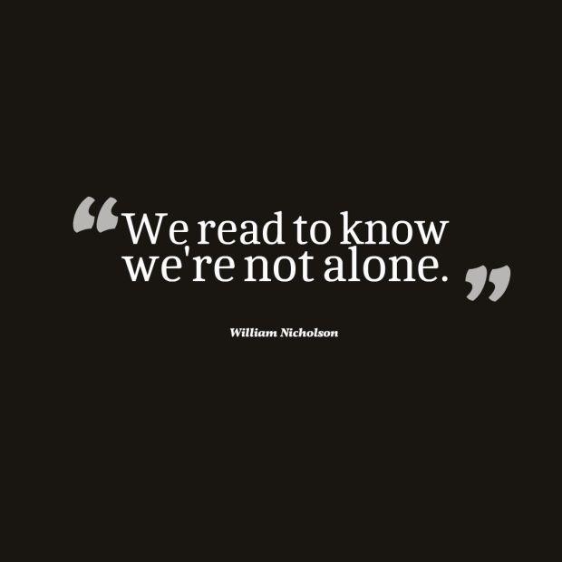 nicholson reading quote