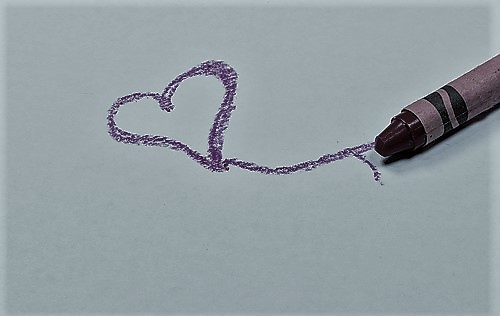 crayon coloring heart
