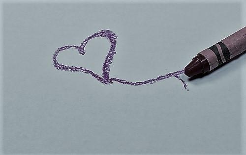 crayon coloring heart