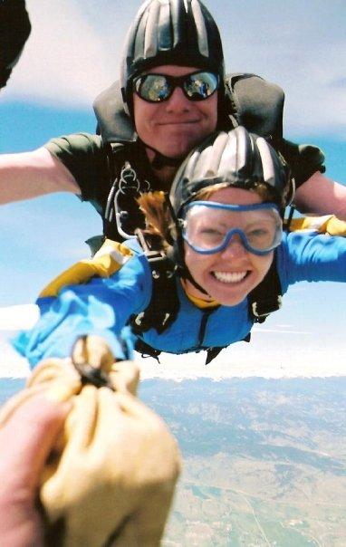 Joanna skydiving
