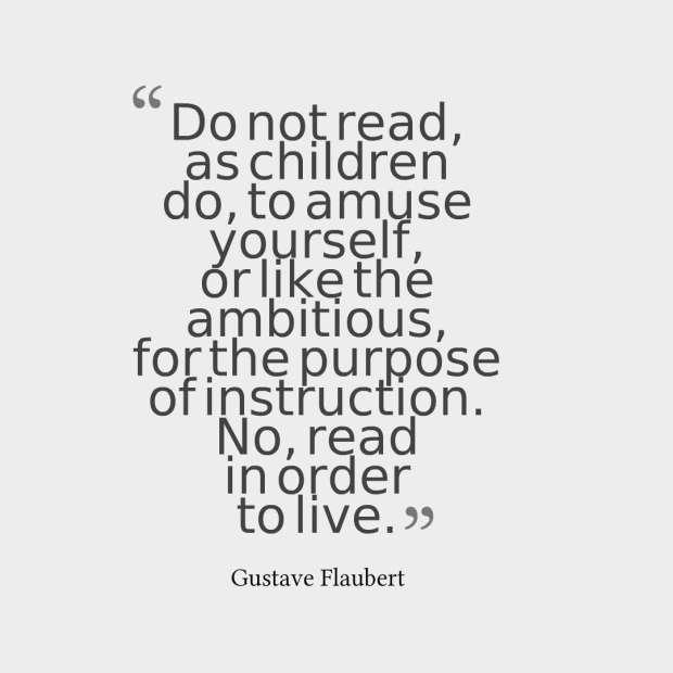 flaubert quote reading