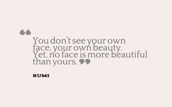 rumi quote beauty