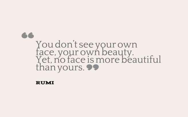rumi quote beauty