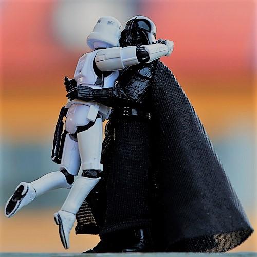 stormtrooper darth vader hug