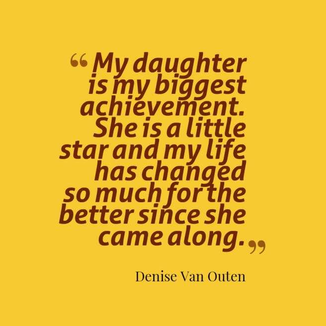 van outen quote daughter