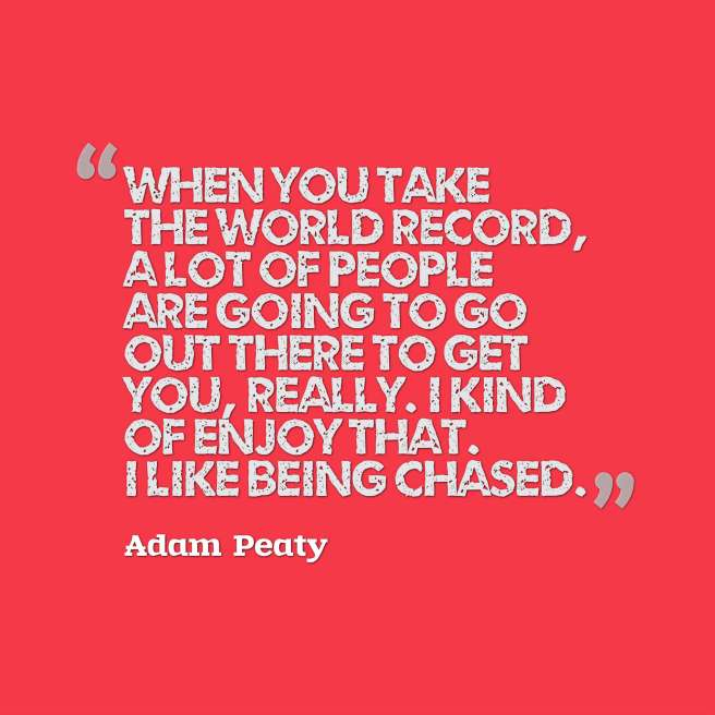 peaty quote world records