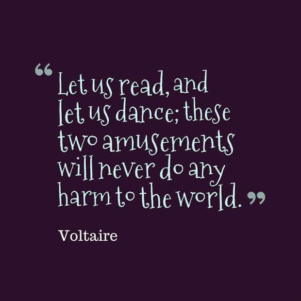 voltaire quote reading