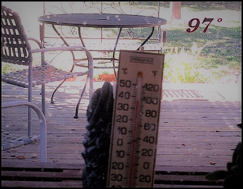 oppressive heat thermometer summer