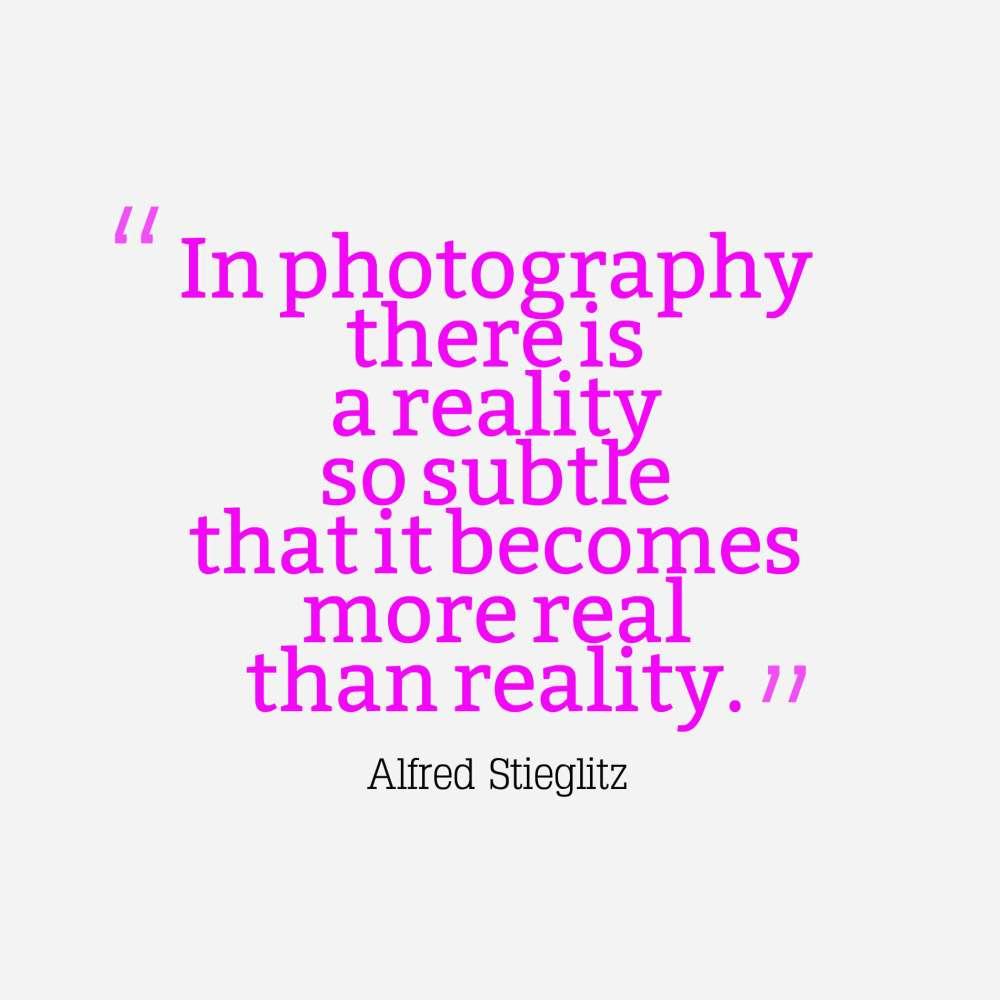 Stieglitz quote photography