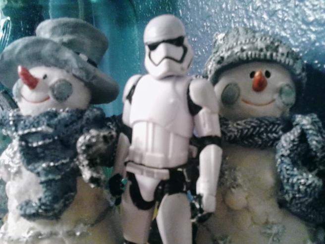 stormtrooper kicks it with snowmen