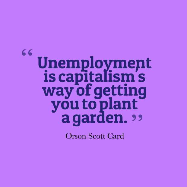 card quote unemployment