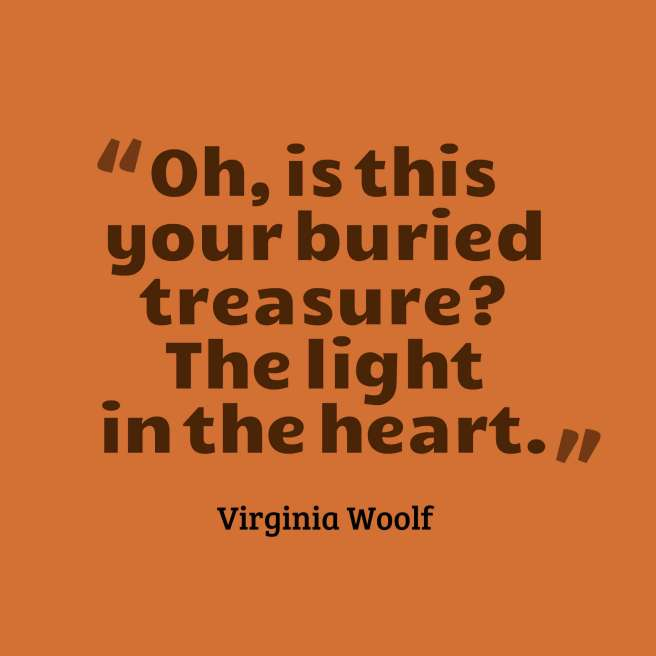 quotes woolf buried treasure