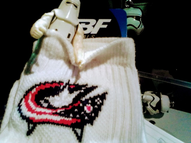 stormtrooper columbus bluejackets socks NHL