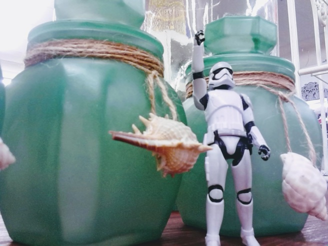 stormtrooper antique shop shells green jars