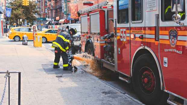 cars city fire truck firefighter