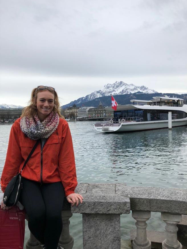 Justine Turley dock Lucern Switzerland
