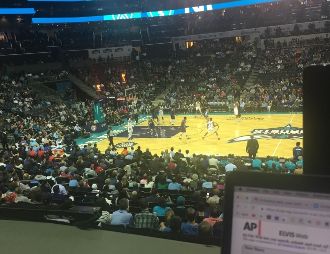 hornets coverage 2019 spectrum center work