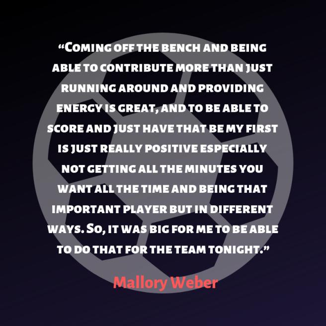 weber quote winning goal