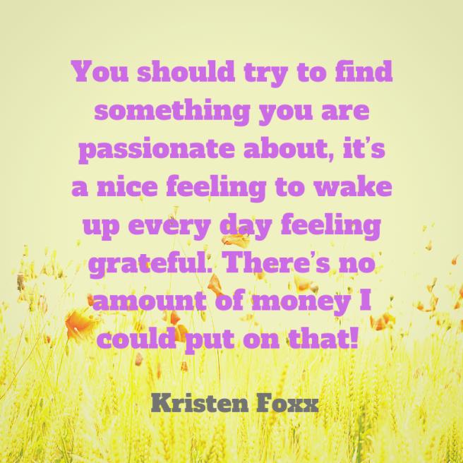 Foxx quote passionate