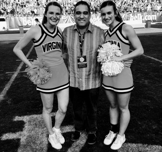 me virginia cheerleaders belk bowl new friends bank of america stadium