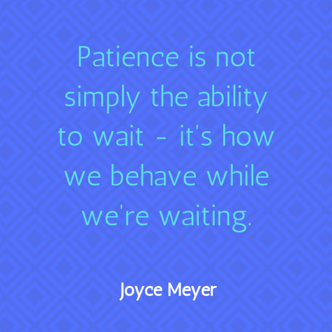 Meyer quote patience