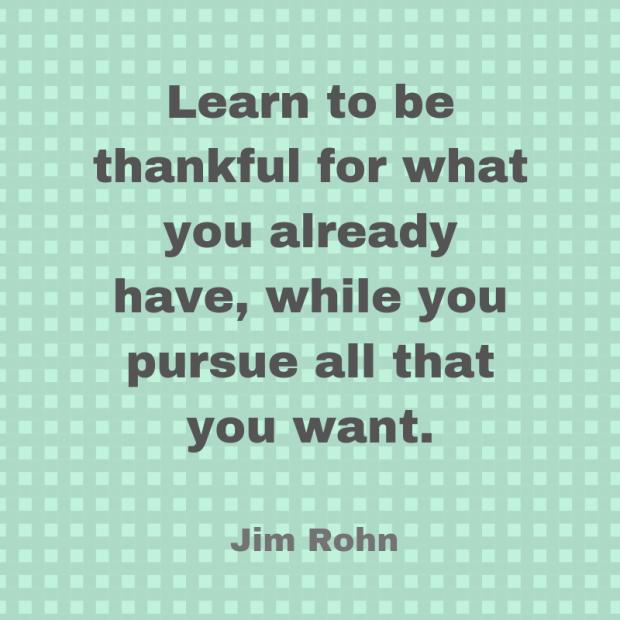 rohn quote gratitude