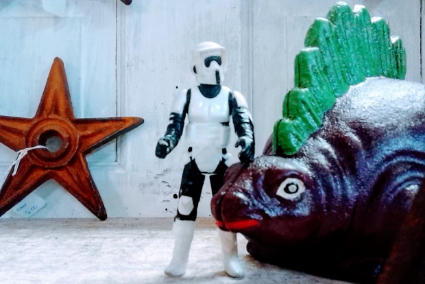 stormtrooper stegosaurus 2018 photo op antique store