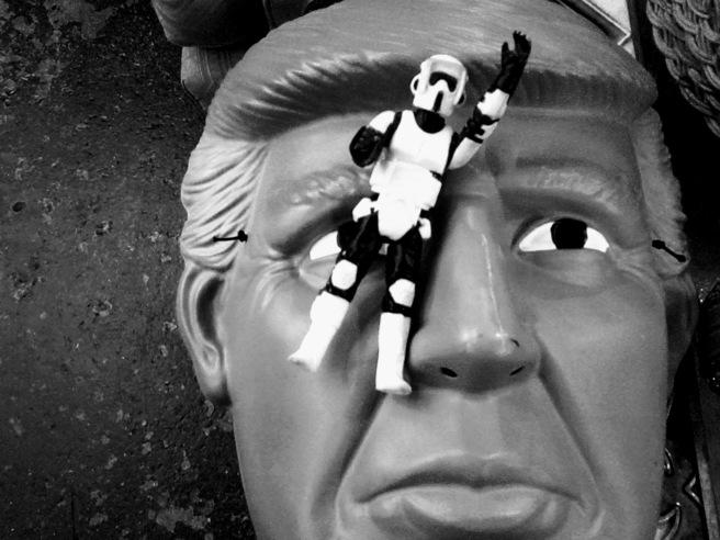 stormtrooper trump 2018 laughs antique store